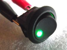 LED Switch round green warning led for Kitcar Dashboard fog light panel light